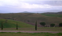 Val d'Orcia in inverno